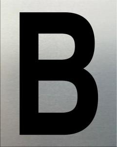 MG2LN Letter B Black on Silver (50MM)