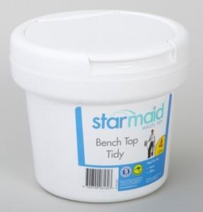 STARMAID 4L BENCH TOP BIN WHITE